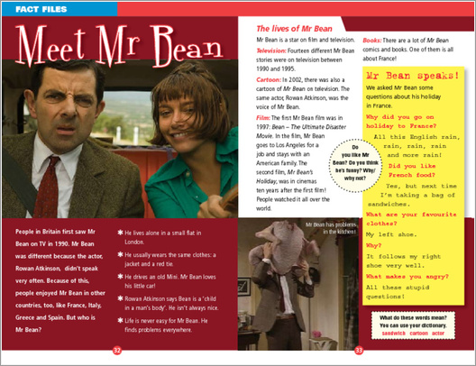 ELT Reader: Mr Bean's Holiday Fact File