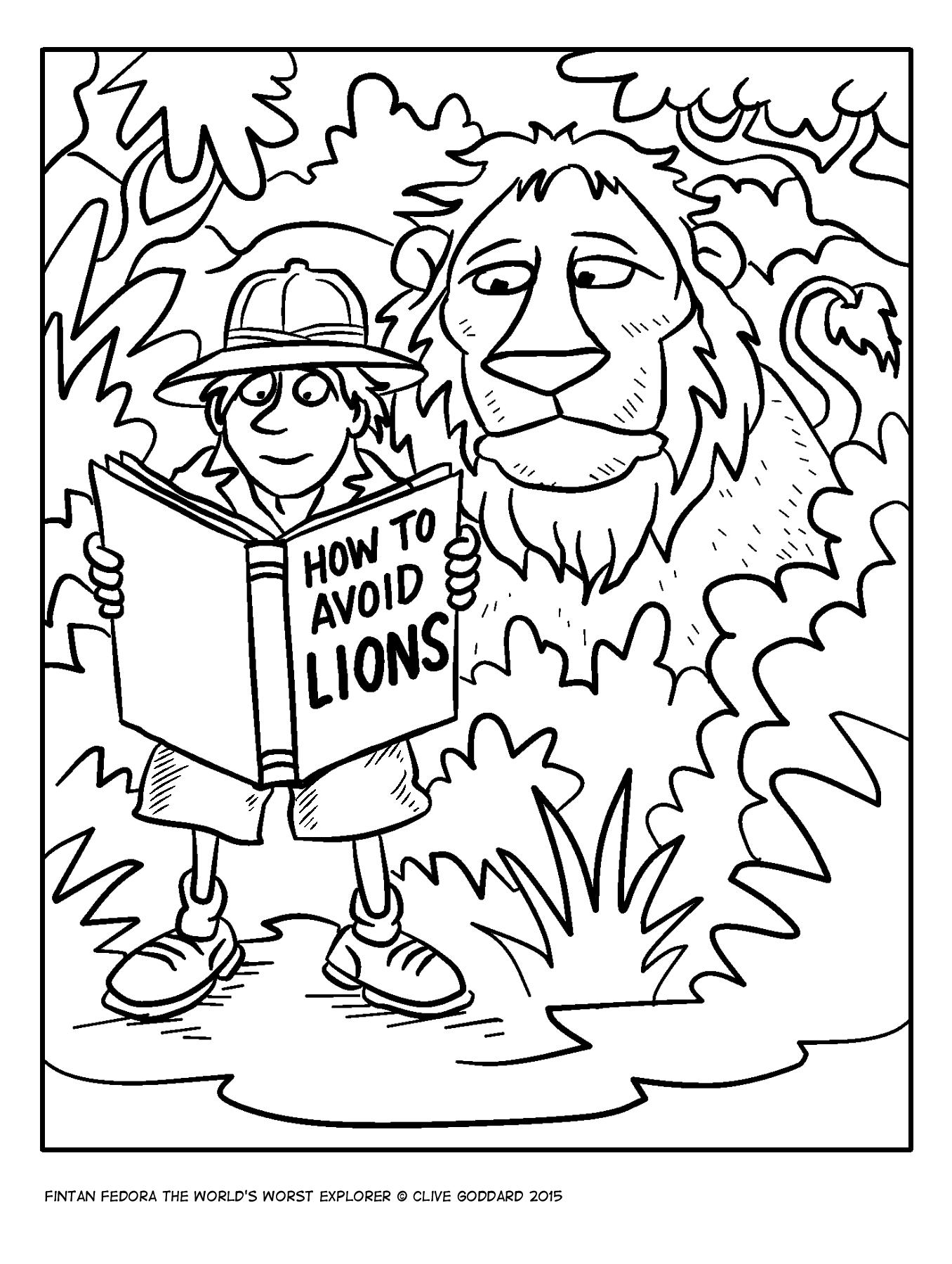 Fintan colouring lions 1423722