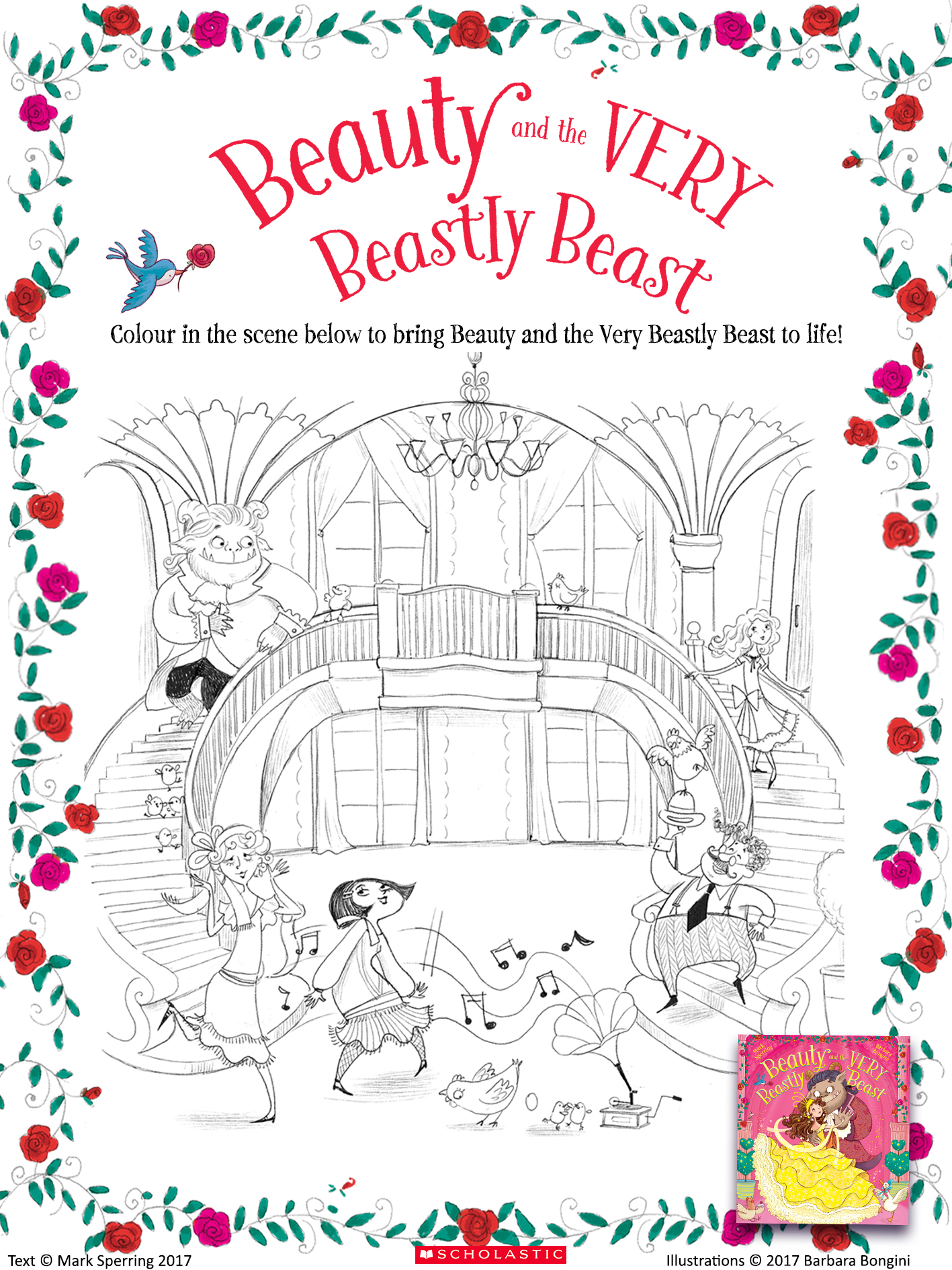 Colouring 2 beauty and the very beastly beast 1600579