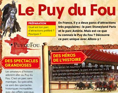 Le Puy du Fou (menu)