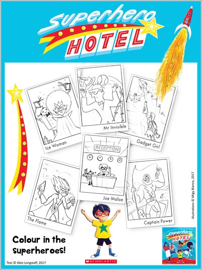 Superhero Hotel Colouring Activity