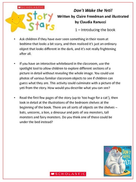 Story Stars Resource: Don't Wake the Yeti