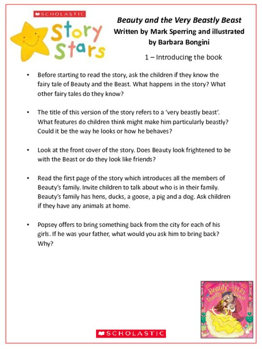 Story Stars Resource: Beauty and the Very Beastly Beast