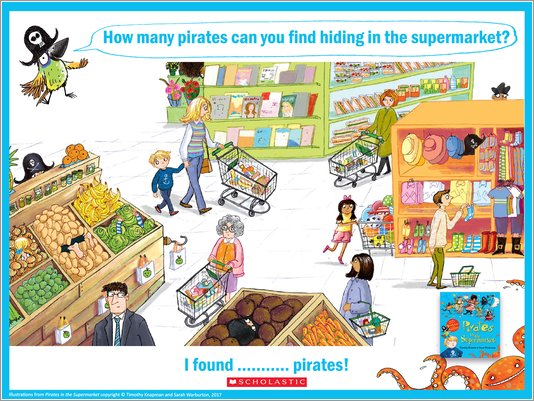 Pirates in the Supermarket Spot the Pirates Activity