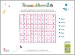 Princess Mirror-Belle Wordsearch (1 page)