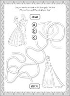 Disney Frozen Puzzle Activity 1