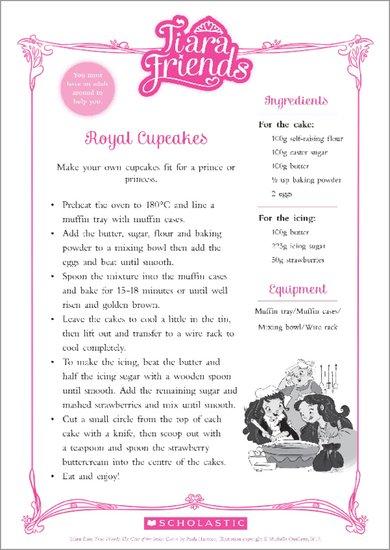 Tiara Friends Cupcake Recipe