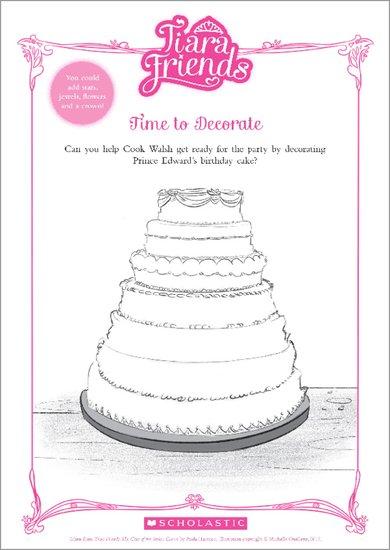Tiara Friends Decorate a Cake