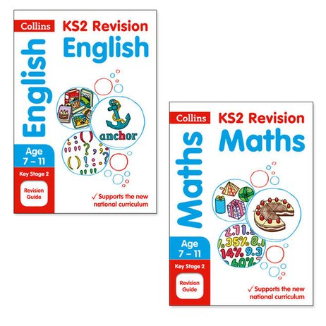 Collins KS2 English and Maths Revision Guides Pair (Ages 7-11)