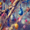 Easter Eggs in a tree