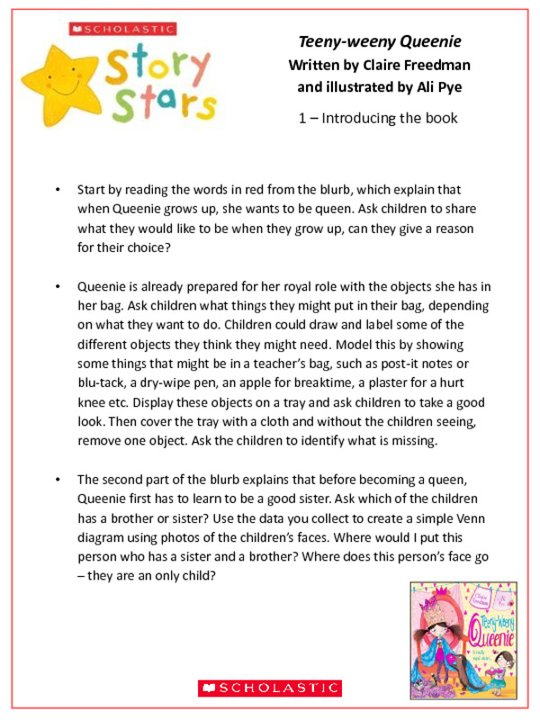 Story Stars Resource: Teeny-weeny Queenie Lesson Plan