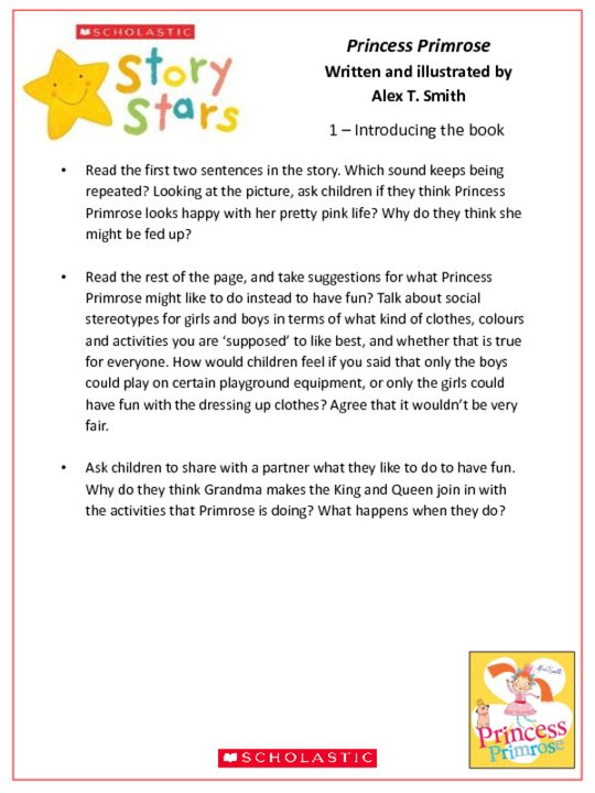 Story Stars Resource: Princess Primrose Lesson Plan