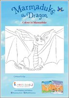 Marmaduke the Dragon - Colour in Marmaduke