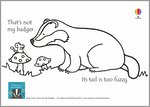 That's Not My Badger...Colouring Sheet