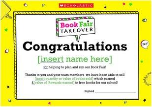 Book Fair Takeover: Certificate