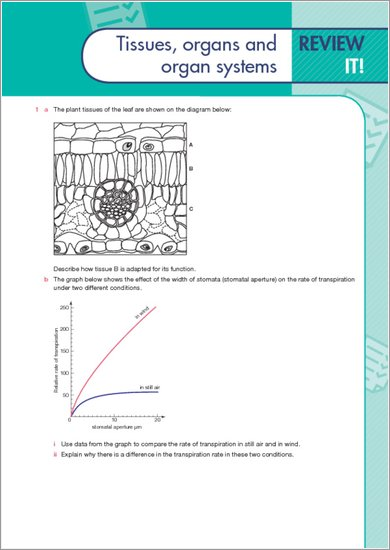 GCSE Grades 9-1: Biology Revision Guide for AQA sample page