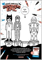 Create Your Own Superhero Epic Activity Sheet 3