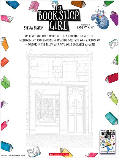 The Bookshop Girl Colouring Activity