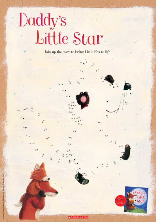 Daddy's Little Star dot-to-dot activity