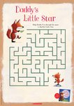 Daddy's Little Star maze activity (1 page)
