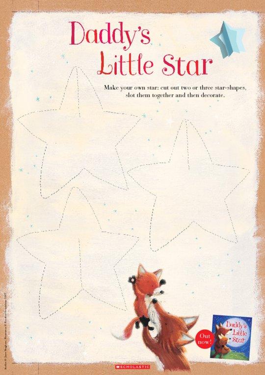 Daddy's Little Star make a star activity
