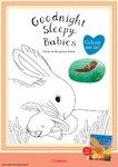 Goodnight Sleepy Babies colouring (1 page)