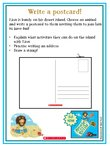 Message in a Bottle Postcard Activity Sheet (2 pages)