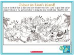 Message in a Bottle Colouring Activity Sheet (1 page)