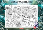Shadow Magic Activity Sheet: Map Colouring-in (1 page)