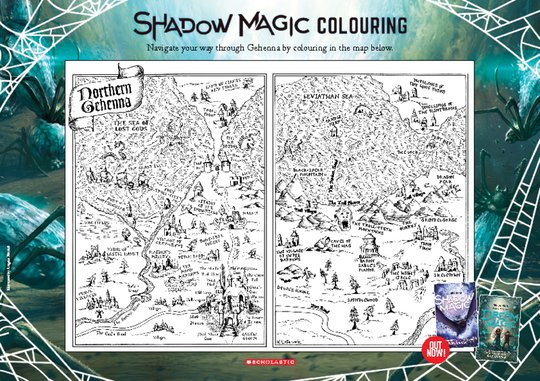 Shadow Magic Activity Sheet: Map Colouring-in