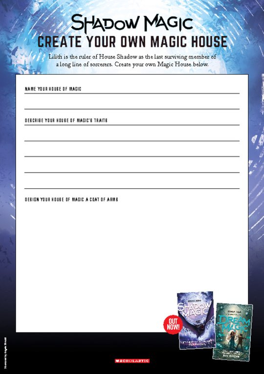 Shadow Magic Activity Sheet: Create a Magic House