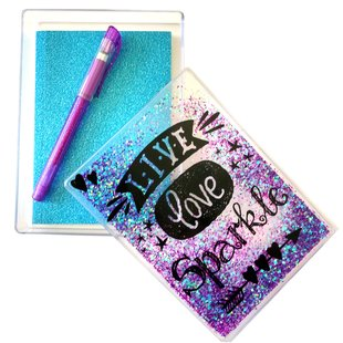 Live Love Sparkle Glitter Box and Notebook