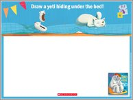 Don't Wake the Yeti Drawing Activity Sheet