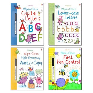 Usborne Wipe-Clean Writing Pack x 4