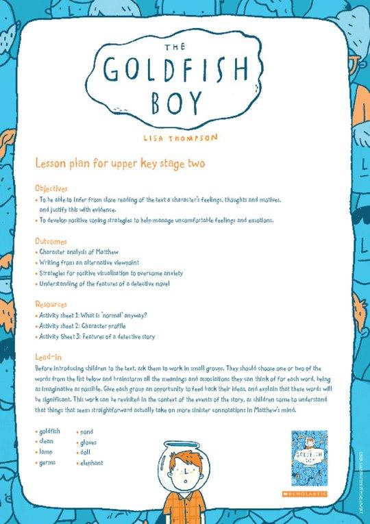 The Goldfish Boy Lesson Plans