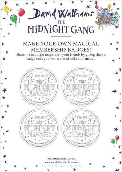 The Midnight Gang Badges