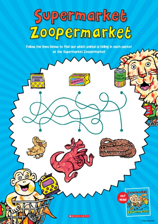 Supermarket Zoopermarket Activity Sheet