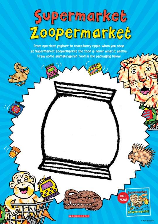 Supermarket Zoopermarket Drawing Activity