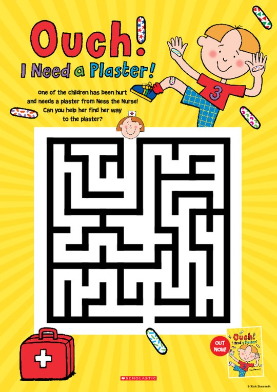Ouch! I Need a Plaster Maze Activity Sheet
