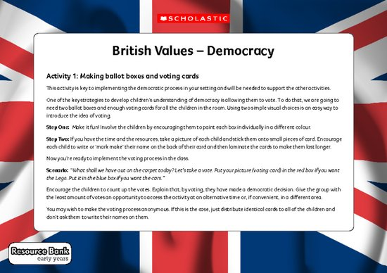 British values - early years