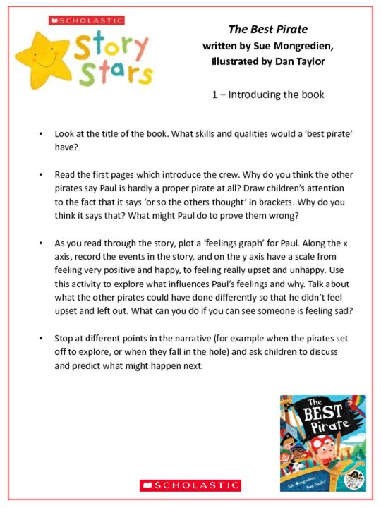 Story Stars Resource: The Best Pirate Lesson Plan