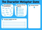 Character metaphor game