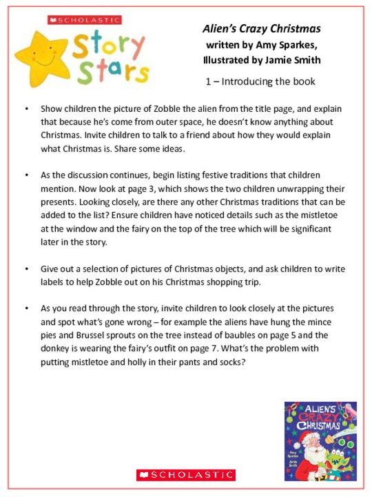 Story Stars Resource: Alien's Crazy Christmas Lesson Plan