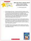 Story Stars Resource: Watch Out There's a Monster About Lesson Plan (3 pages)