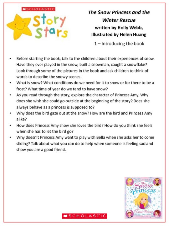 Story Stars Resource: Snow Princess and the Winter Rescue Lesson Plan