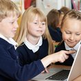 Children using internet
