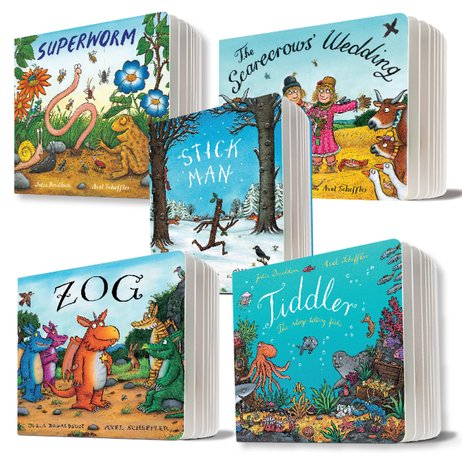 Julia Donaldson and Axel Scheffler Board Book Pack x 5
