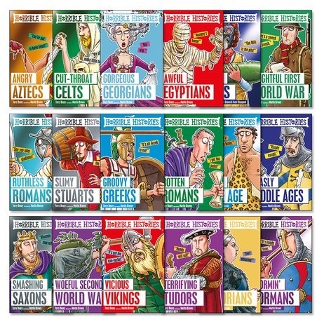 horrible histories pack classic editions x 18