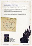 Harry Potter and the Philosopher's Stone - Petrified Potters Game (1 page)