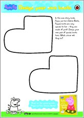 Peppa pig design your own boots activity 1548121